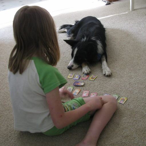 """Beth and Penny playing """"Go Fish"""""""