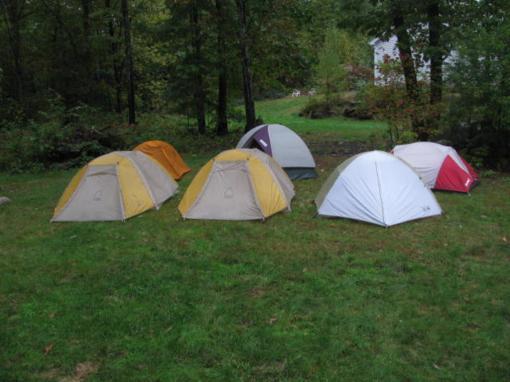 Drying six tents